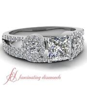 1 Ct Diamond Wedding Set