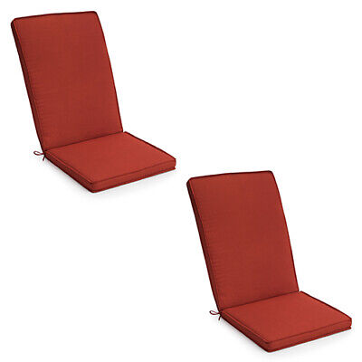Highback Outdoor Dining Recliner Chair Pad Cushions Garden Patio Furniture X 2pk