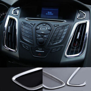 Chrome Interior Air Condition Control Panel Vent Cover Ford Focus 2012 2013 2014 Ebay