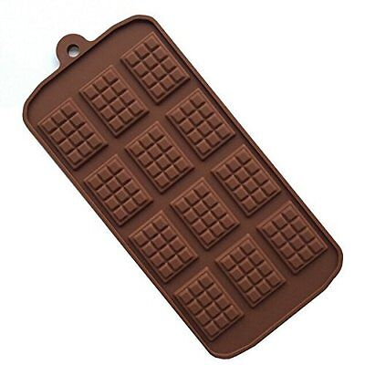 Chocolate Bar Mini Waffle Silicone mold Candy Chocolate Fondant Tray Sugar Craft