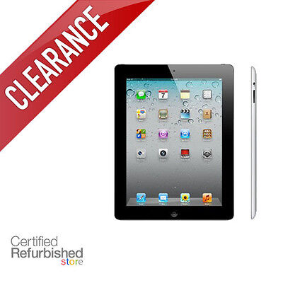 Apple iPad 2 16GB 32GB 64GB   Black or White   AT T, Verizon or WiFi Only Tablet
