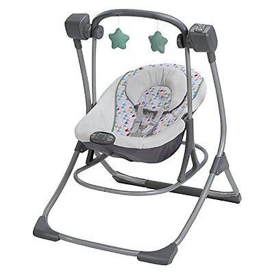 Graco Cozy Duet BABY SWING, Portable 2 In 1 Baby Swing Plus ROCKER, Lambert
