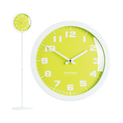 Modern Stand Floor Clock Home Decor Interior Separate Stand Clock Pastel(Green)