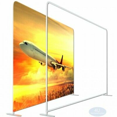 8fttension Fabric Easy Tube Straight Booth Frame Exhibit Backdrop Display Stand