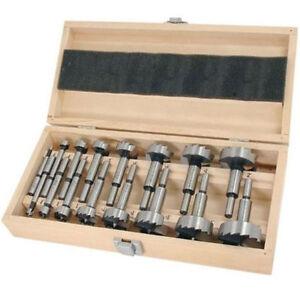 Pro Quality 16 Pc Forstner Drill Bits Set Cutter Wood Boring Hinge Hole Cutting