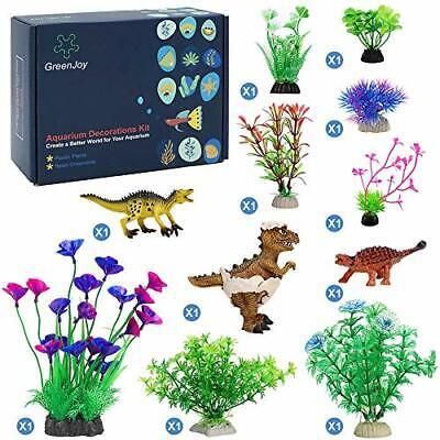 GreenJoy Aquarium Fish Tank Thematic Decorations Accessories Kit Dinosaur The...