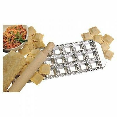 Square Rolling Pin (RISOLI Aluminum Square Ravioli Maker With Rolling Pin 24 Cup Italian made tradit)