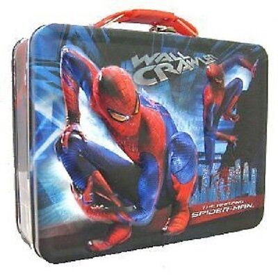 Spider-man Wall Crawler Metal Boys Tin Lunch Box
