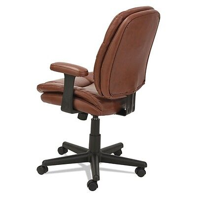 Oif St4859 Swiveltilt Leather Task Chair, Fixed T-bar Arms, Chestnut Brown 8