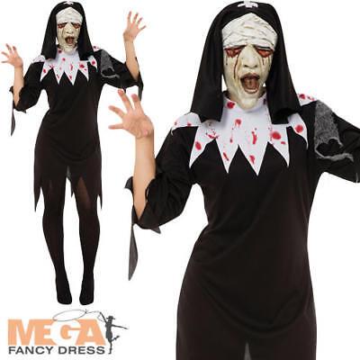 Zombie Nun Ladies Fancy Dress Saints & Sinners Adults Halloween Costume Outfit