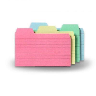 Find-it Tabbed Index Cards 3 X 5 Inches Assorted Colors 48-pack Ft07216