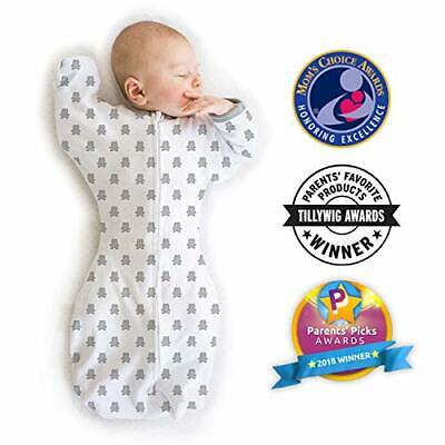 Amazing Baby Transitional Swaddle Sack with Arms Up Mitten C