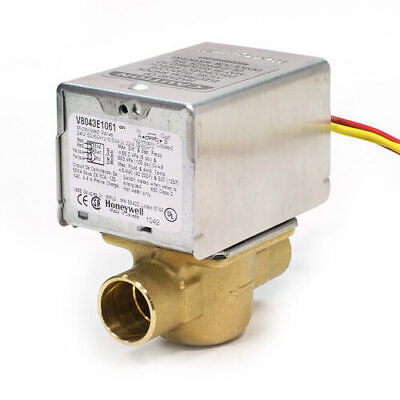 Honeywell V8043e1061 Zone Valve 2 Way Normally Closed 34 Sweat 24vac 8 Cv