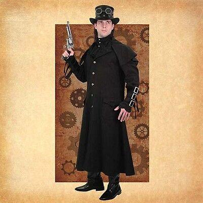 Museum Replicas Steampunk Imperium Herren Mantel Trenchcoat S - Herren Trenchcoat Schwarz Kostüm