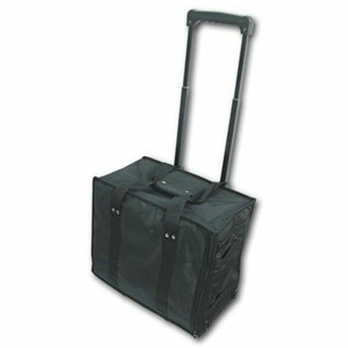 1 Rolling Soft Side Jewelry Travel Carrying Display Case with Pullout Handle