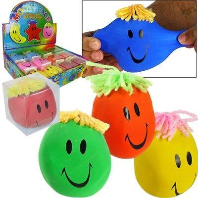 Smiley Face Stress Ball Stretchy Stress Reliever Bulk (Pack of 24) (Stress Balls Bulk)