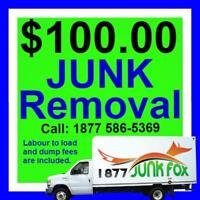 OPEN 7 days + Low Price Junk removal = 18775865369.