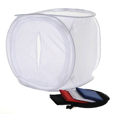 40x40cm Photo Studio Shooting Light Cube Box Tent+4Color Backdrops ED