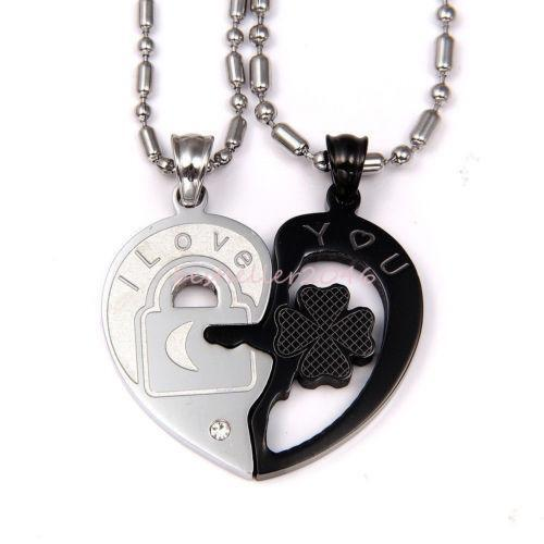 heart necklace for couples - photo #13