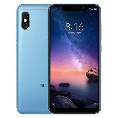 Xiaomi Redmi Note 6 Pro Dual SIM 64GB 4GB RAM BLU BLUE Vers. Global Banda 20
