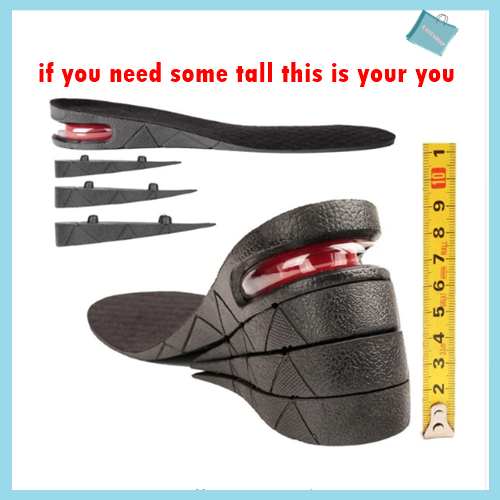 Height Lift Adjustable Instant Height Insoles Booster Air Insert Insoles Pad ER