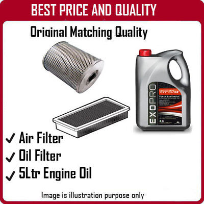 3404 AIR + OIL FILTERS AND 5L ENGINE OIL FOR SSANGYONG KORANDO 2.9 1997-2000