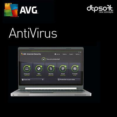 AVG AntiVirus 2020 - 3 PC's - 1 YEAR - 2020 US