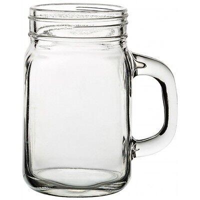 2x 15oz Tennessee Handled Mason Drinking Jam Jars Glass Jeremiah Glass