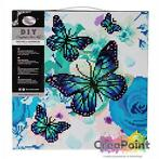 Crystal Art kit Orchids & Butterflies 30 x 30 cm