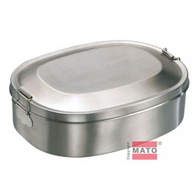 Lunch-box-dose (Edelstahl Vesperdose 14 x 18 cm Vesperbox Brotdose Lunchbox Dose Box Behälter)