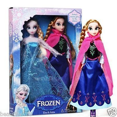 2PCS Birthday Gift Playset Frozen Princess Elsa&Anna 12
