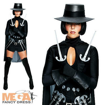 V for Vendetta Ladies Fancy Dress Evey Guy Fawkes Adults Halloween Costume + Hat - Costumes For Guys Halloween