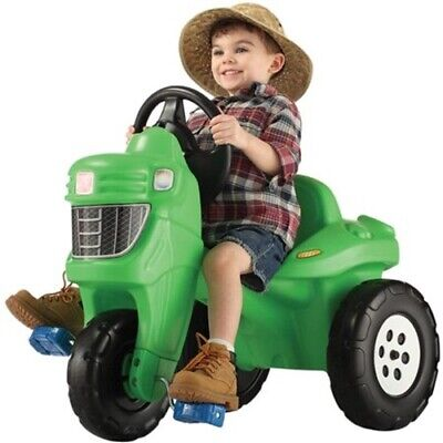 Step2 Pedal Farm Tractor Ride On Toy Fun Outdoor Play Boys Girls Toddlers New  - Pedal Farm Tractor
