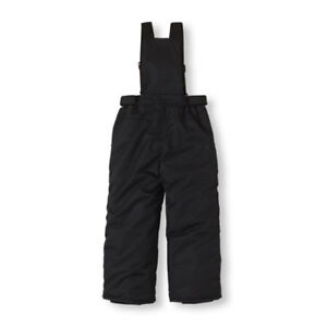 Boys Size 7 - TCP Black Solid Ski Bib Snow Pants