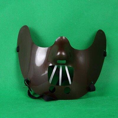 Halloween Plastik Hannibal Maske Mund Biss Schutz Kostüm Lector Kannibale