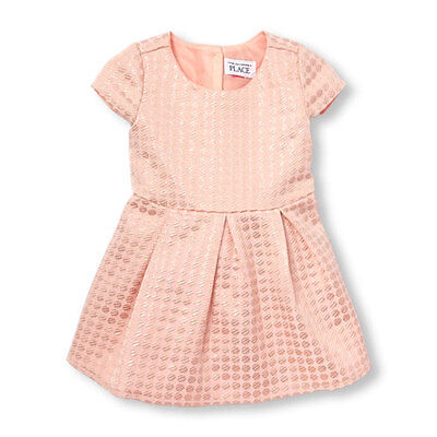 Nwt  Toddler Cap Sleeve Metallic Jacquard Flare Dress   The Childrens Place