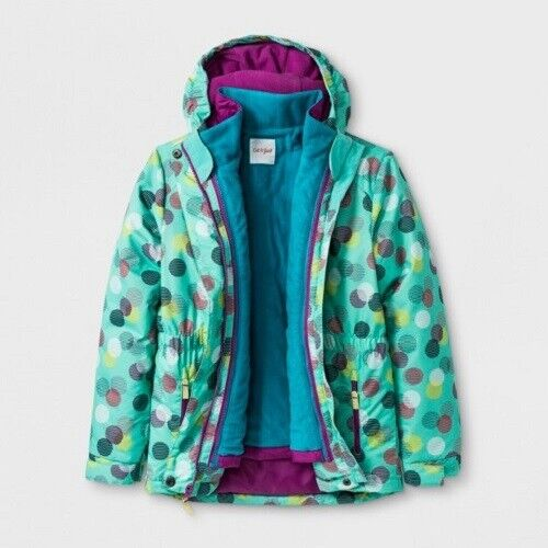Girls' Circle Print 3-in-1 Jacket Cat & Jack – Teal Large 10/12 NWT Clothing, Shoes & Accessories