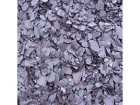 20 mm plum slate garden and driveway chips/stones