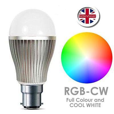 MiLight RGB-CW LED Light Bulb WiFi remote control Full Colour -9W- B22 2.4GHz