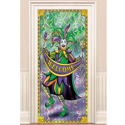 MARDI GRAS JUMBO FOIL DOOR POSTER ~ Birthday Party Supplies Hanging Sign Decor (Mardi Gras Party Supplies)