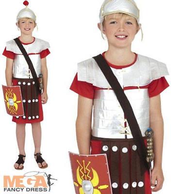 Roman Soldier Boys Book Week School Fancy Dress Costume Kids Childs Outfit New ()