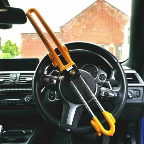 Car Parts - Universal Heavy Duty Car Steering Wheel Lock Anti Theft Clamp Safe Lock and Keys