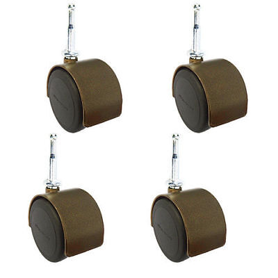 2 Hardwood Safe Office Chair Casters - Windsor Antique - Wood Sockets -set Of 4