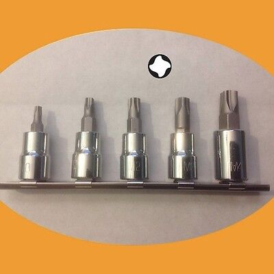 Mortorq 5 Piece Socket Bit Set M0 M1 M2 M3 M4