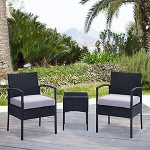 New, White Cushioned Coffee Table Patio Set *Pick up Only