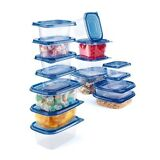 Home Collections 30-Piece Heavy Duty Storage Container Set w/ Color Lids
