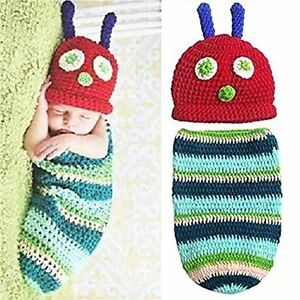 Caterpillar infant Crocheted 2 piece outfit 0-6 months