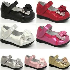 GIRLS-PARTY-SHOES-BABIES-INFANTS-WEDDING-BRIDESMAID-BABY-SHOES-SIZE-3-4-5-6-7