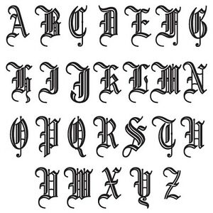 LETTER FONT OLD ENGLISH VINTAGE DECORATION VINYL DECAL STICKER L 01