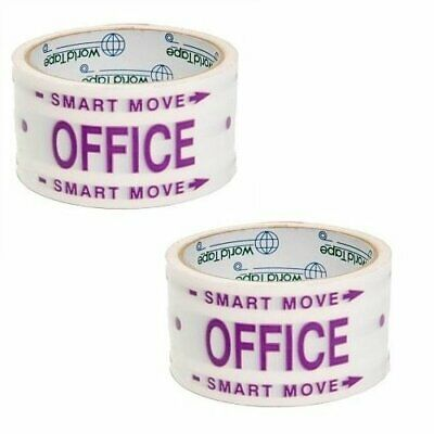 Smart Move Packing Storage Moving Office Printed Tape 2 Pack 30 Yard Rolls B194